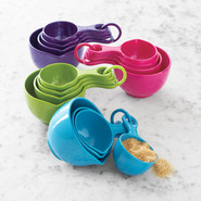Sets of Four Measuring Cups, Gold