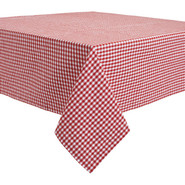 Red &amp; White Gingham Tablecloth, 69  x 69