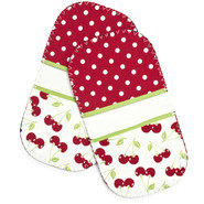 Cherries Mini-Grip Potholders, Set of 2
