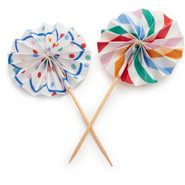 Toot Sweet Pinwheel Cupcake Picks, Set of 8