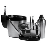 SteeL 11-Piece Barware Set