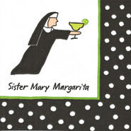 Sister Mary Margarita  Paper Cocktail Napkins