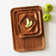 Acacia Wood Salad Plate, 10  sq.