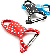 Polka-Dot Swiss Peeler, Blue