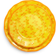 Yellow French Floral Plate, 11