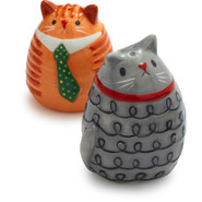 Fat Cat Salt and Pepper Shakers