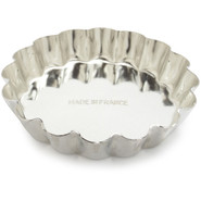 Tinned-Steel Fixed-Bottom Fluted Tartlette Mold, 2