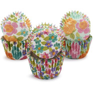 Floral Mini Bake Cups, Set of 96