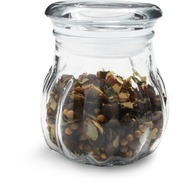 Ribbed Glass Spice Jar