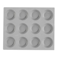 Elastomoule Mini Tartlet Grid, 12 portions