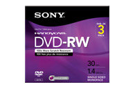 DVD-RW Rewritable Media - 3 Pack 3DMW30R2HC