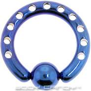 8 Gauge INDUSTRIAL PUNCHED Electric Blue TITANIUM