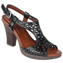 Alpine Black Leather Women's