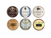 Set of 6 Wine Country Appetizer Plates