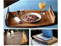 21x15.5x3.5-in. Reversible Acacia Serving Tray