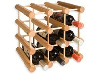 12-bottle Wine Rack, Natural Wood