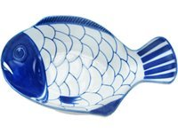 9.5-in. Arabesque Fish Shaped Serving Bowl