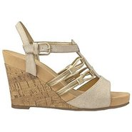 Snowplush Sandals (Nat Gold Metallic) - Women's Sa