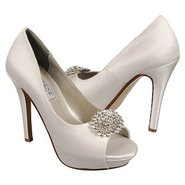 Doris Shoes (White Silk Satin) - Women's Shoes - 1