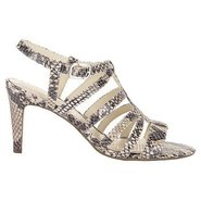 Lendra Strappy Sandal Shoes (Natural Snake) - Wome