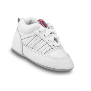 Crib 5-Stripe Infant Shoes (White) - Kids' Shoes -