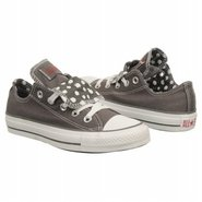All Star Lo Double Shoes (Charcoal/White Polka) - 