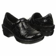 Peggy Shoes (Black Pat Croco) - Women's Shoes - 7.