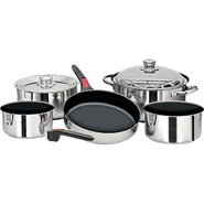 Nesting 10 Piece Teflon Coated S.S. Cookware Set