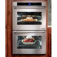 30  Double Wall Oven in Black Glass - ships with E