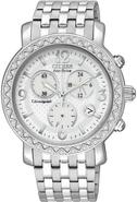 Eco-Drive Swarovski Crystal Chronograph Ladies Wat