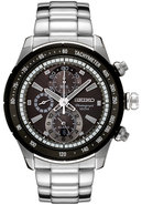 Mens Chronograph Stainless Steel Watch SNAC89P