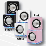 21314TRU Cube Speakers - Black
