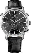 Black Leather Chronograph Mens Watch 1790875