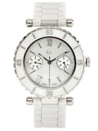Diver Chic White Ceramic Ladies Watch G35003L1