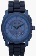 Machine Blue Silicone Chronograph Mens Watch FS470