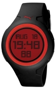 Mens Spin Black and Red Digital Watch PU910441004