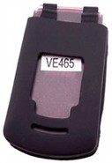 Black Silicone Skin Case For Motorola VE465