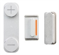Button Set Assembly Part For Apple iPhone 5 - Silv