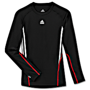 TECHFIT 3-Stripes Long Sleeve Shirt