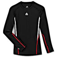 Adidas          TECHFIT 3-Stripes Long Sleeve Shirt