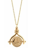 by Erin Wasson Coin Spinner Necklace - Gold