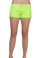 SALE- 7 For All Mankind Cut Off Neon Shorts in Neo