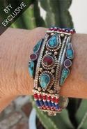 Navajo Oval Bracelet - Silver