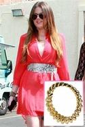 .          Belle Noel Rams Horn Bracelet in Gold