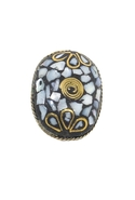 Inlaid Tenzi Ring - Abalone - One Size Fits All