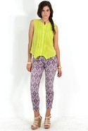 7 For All Mankind Diamond Summer Print Crop Skinny