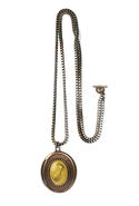 SALE-MinkPink Vintage Stone Pendant Necklace - Rom