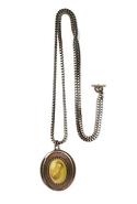 SALE-MinkPink Vintage Stone Pendant Necklace - Rom