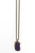 . Amber Amethyst Pendant Necklace - Amethyst