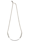 Little Ways Nugget Necklace Silver